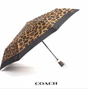 RARE Coach Leopard Umbrella